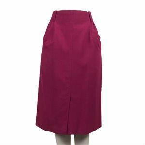 Vintage Fuschia Wool Skirt